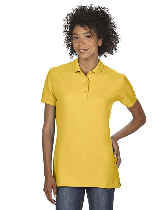 Koszulka Polo Premium Cotton Double Pique Ladies GILDAN L85800 - Gildan_L85800_01 - Kolor: Daisy