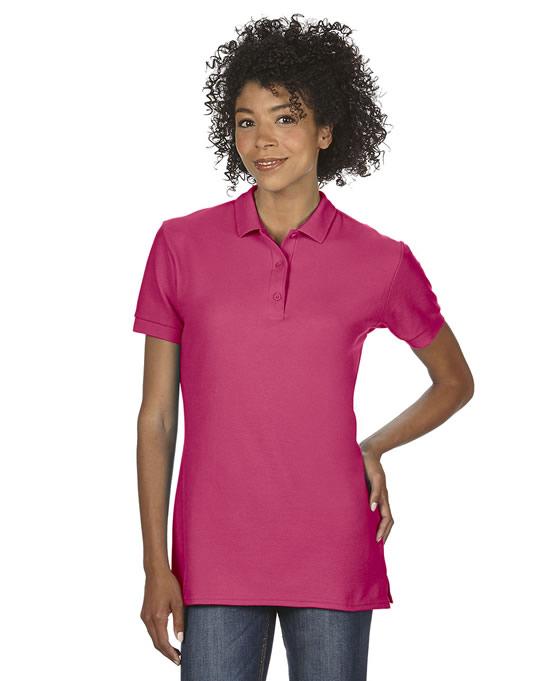 Koszulka Polo Premium Cotton Double Pique Ladies GILDAN L85800 - Gildan_L85800_03 - Kolor: Heliconia