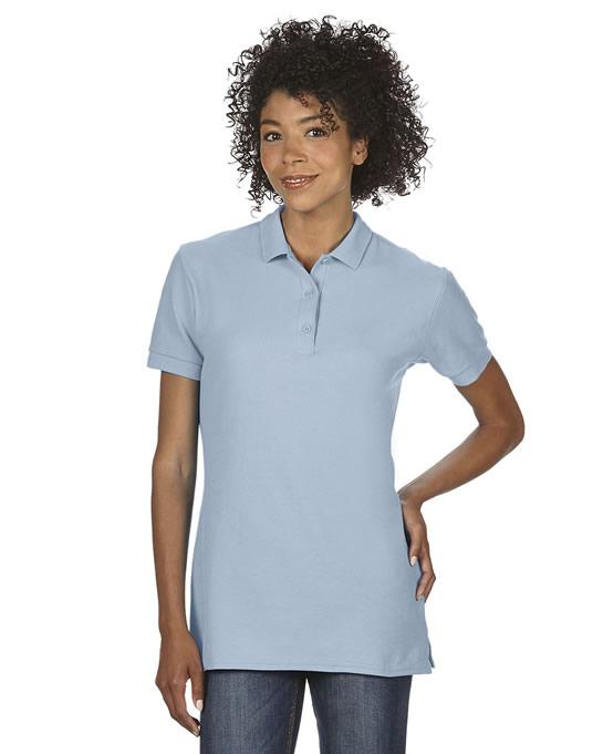Koszulka Polo Premium Cotton Double Pique Ladies GILDAN L85800 - Gildan_L85800_05 - Kolor: Light blue