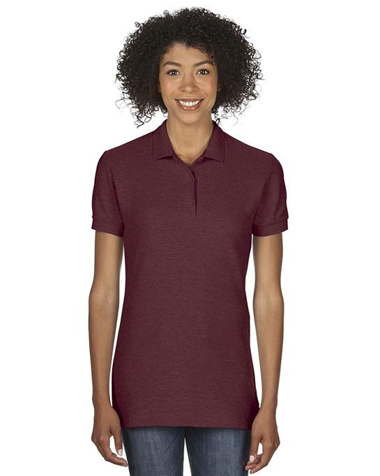 Koszulka Polo Premium Cotton Double Pique Ladies GILDAN L85800 - Gildan_L85800_06 - Kolor: Maroon