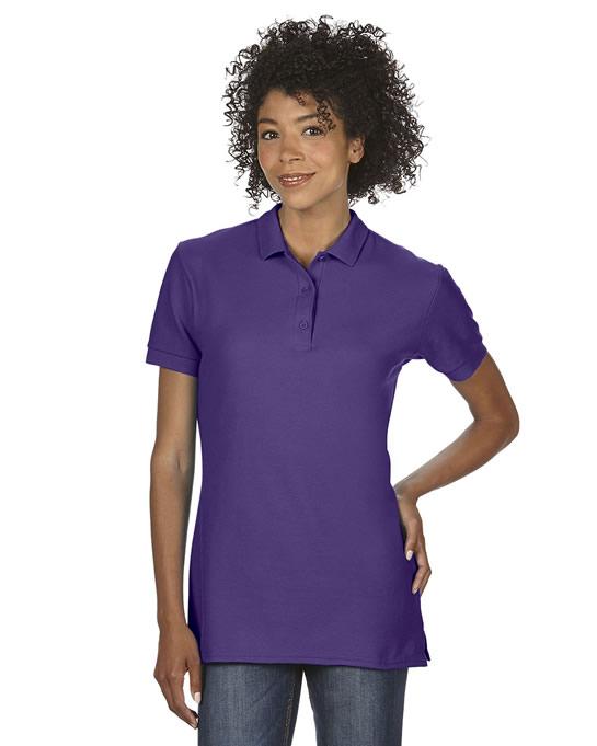 Koszulka Polo Premium Cotton Double Pique Ladies GILDAN L85800 - Gildan_L85800_08 - Kolor: Purple