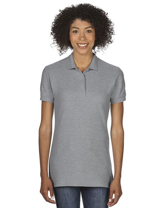 Koszulka Polo Premium Cotton Double Pique Ladies GILDAN L85800 - Gildan_L85800_11 - Kolor: Sport grey