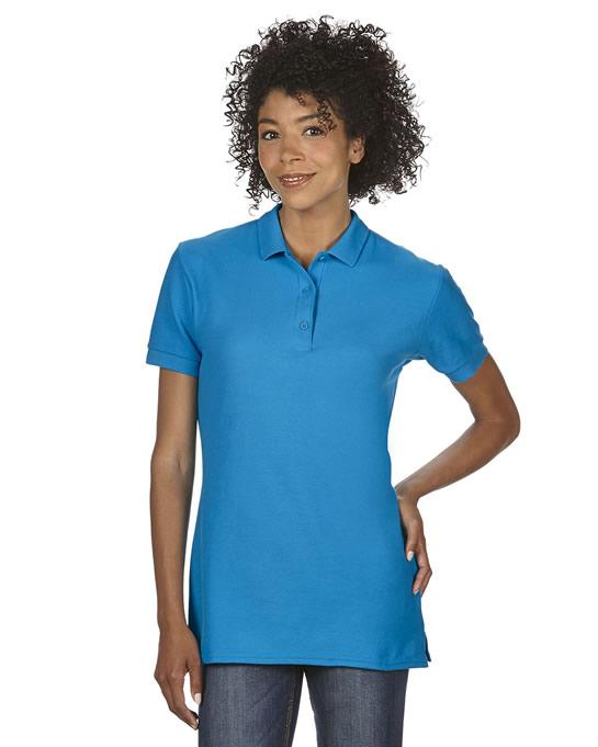Koszulka Polo Premium Cotton Double Pique Ladies GILDAN L85800 - Gildan_L85800_12 - Kolor: Sapphire