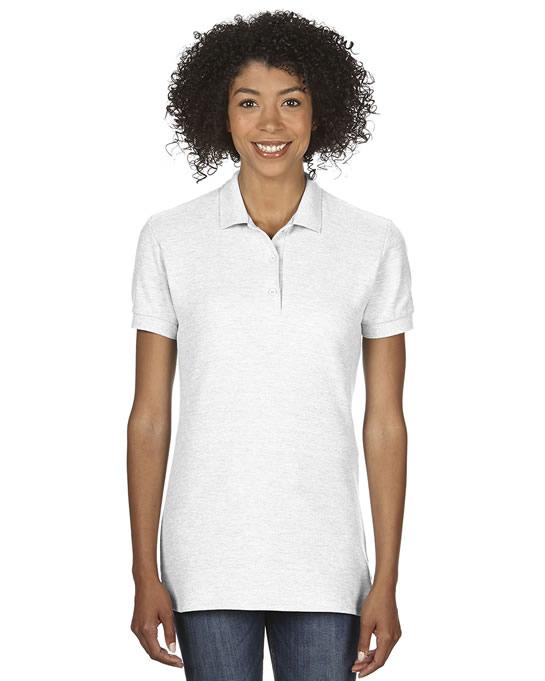 Koszulka Polo Premium Cotton Double Pique Ladies GILDAN L85800 - Gildan_L85800_13 - Kolor: White