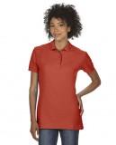 Koszulka Polo Premium Cotton Double Pique Ladies GILDAN L85800 - Gildan_L85800_09 Red