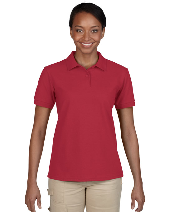 Koszulka Polo DryBlend Pique Ladies GILDAN L94800 - Gildan_L94800_03 - Kolor: Cardinal red