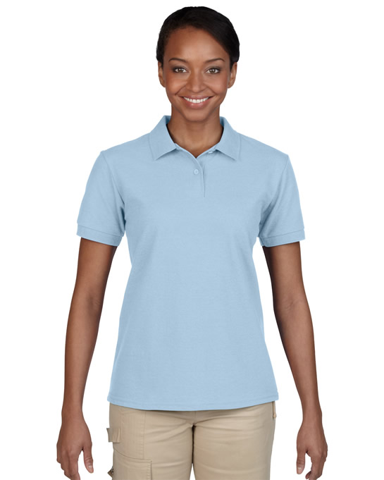 Koszulka Polo DryBlend Pique Ladies GILDAN L94800 - Gildan_L94800_06 - Kolor: Light blue