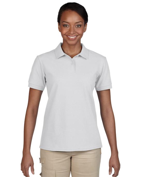 Koszulka Polo DryBlend Pique Ladies GILDAN L94800 - Gildan_L94800_12 - Kolor: White