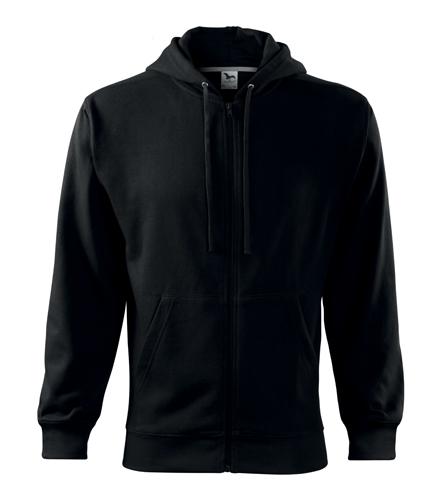 Bluza męska  A 410 Trendy Zipper 300 - 410_01 A - Kolor: Czarny