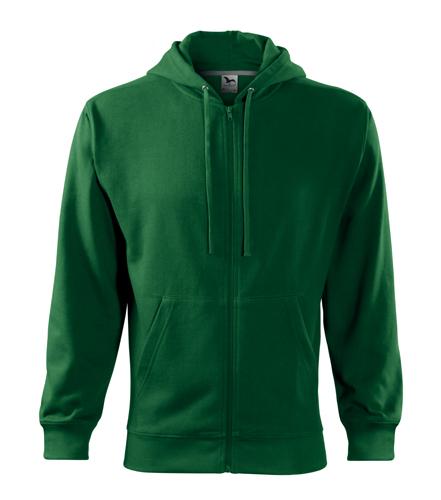 Bluza męska  A 410 Trendy Zipper 300 - 410_06 A - Kolor: Zieleń butelkowa