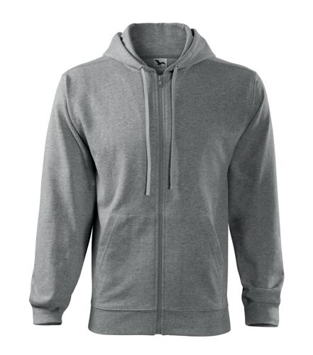 Bluza męska  A 410 Trendy Zipper 300 - 410_12 A - Kolor: Ciemno szary melanż