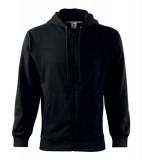 Bluza męska  A 410 Trendy Zipper 300 - 410_01 A Czarny