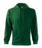 Bluza męska  A 410 Trendy Zipper 300 - 410_06 A Zieleń butelkowa