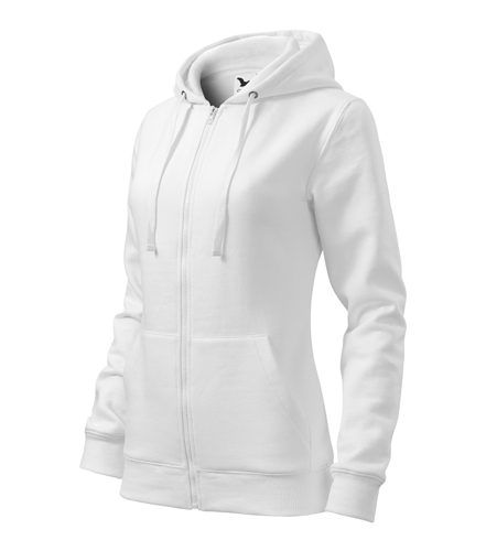 Bluza damska  A 411 Trendy Zipper   - 411_00_C - Kolor: Biały