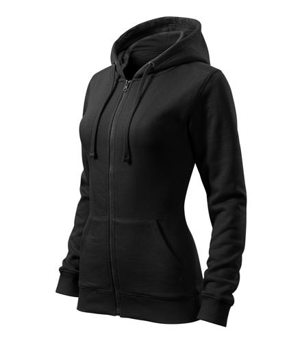 Bluza damska  A 411 Trendy Zipper   - 411_01_C - Kolor: Czarny