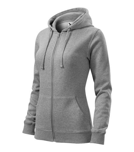 Bluza damska  A 411 Trendy Zipper   - 411_12_C - Kolor: Ciemno szary melanż