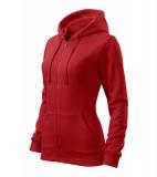 Bluza damska  A 411 Trendy Zipper   - 411_07_C Czerwony