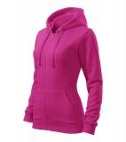 Bluza damska  A 411 Trendy Zipper   - 411_40_C Czerwień purpurowa