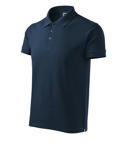 Koszulki  Polo Męska A 215 Cotton Heavy  - 215_02_C - Kolor: Granatowy
