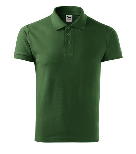 Koszulka Polo Męska A 212 Cotton  - 212_06_A - Kolor: Zieleń butelkowa