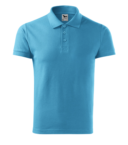Koszulka Polo Męska A 212 Cotton  - 212_44_A - Kolor: Turkus
