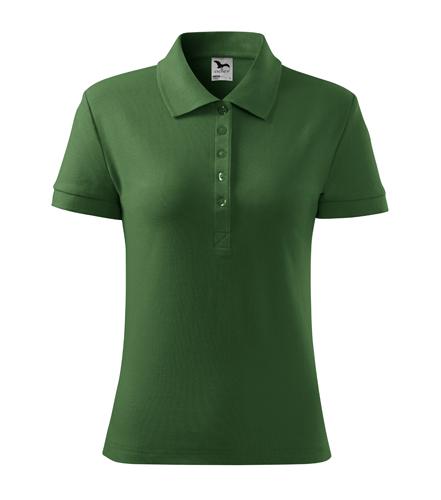 Koszulka Polo Damska A 213 Cotton  - 213_06_A - Kolor: Zieleń butelkowa