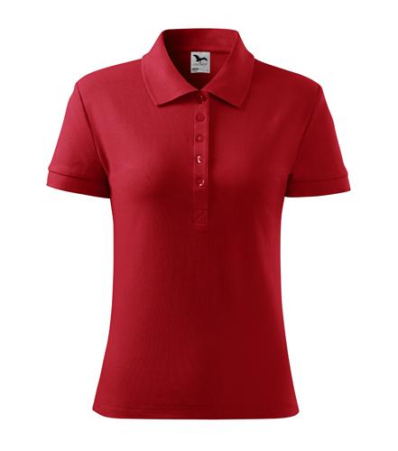Koszulka Polo Damska A 213 Cotton  - 213_07_A - Kolor: Czerwony