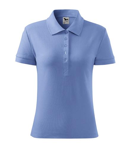 Koszulka Polo Damska A 213 Cotton  - 213_15_A - Kolor: Błękitny