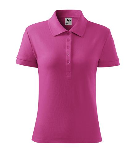 Koszulka Polo Damska A 213 Cotton  - 213_40_A - Kolor: Czerwień purpurowa