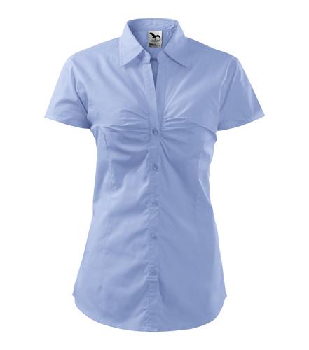 Koszula Damska A 214 Chic  - 214_15_A - Kolor: Błękitny