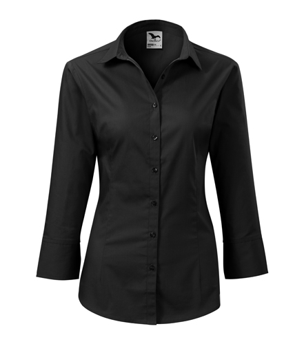 Koszula Damska A 218 Style z rękawem 3/4  - 218_01_A - Kolor: Czarny