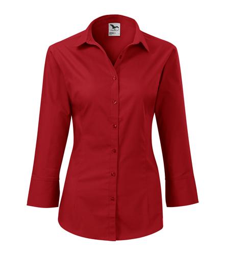 Koszula Damska A 218 Style z rękawem 3/4  - 218_07_A - Kolor: Czerwony