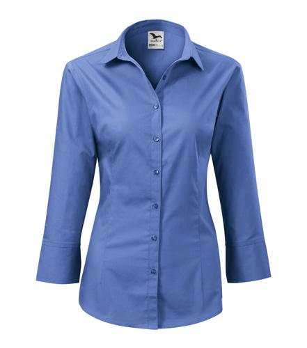 Koszula Damska A 218 Style z rękawem 3/4  - 218_14_A - Kolor: Lazurowy