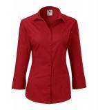 Koszula Damska A 218 Style z rękawem 3/4  - 218_07_A Czerwony