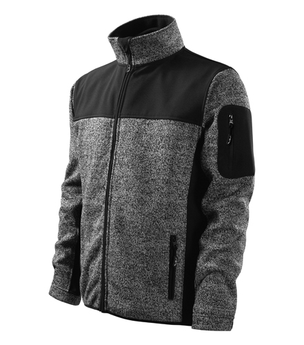 Kurtka Męska Malfini A 550 Softshell Casual  - 550_80_C - Kolor: Knit Gray