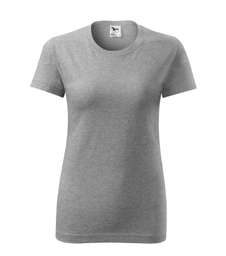 Koszulka Damska A 133 Classic New - 133_12_A - Kolor: Ciemno szary melanż