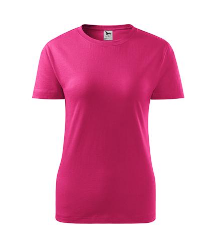 Koszulka Damska A 133 Classic New - 133_40_A - Kolor: Czerwień purpurowa