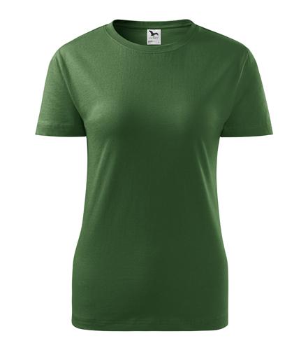 Koszulka Damska A 134 Basic  - 134_06_A - Kolor: Zieleń butelkowa