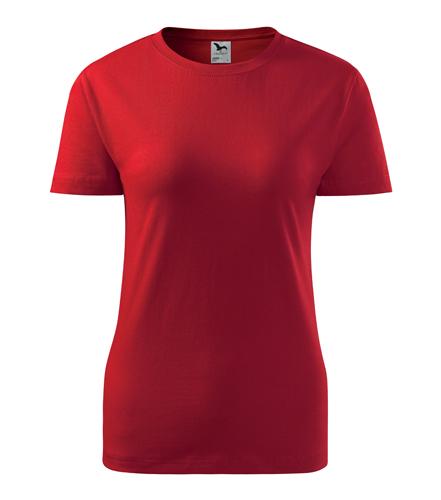 Koszulka Damska A 134 Basic  - 134_07_A - Kolor: Czerwony