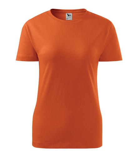 Koszulka Damska A 134 Basic  - 134_11_A - Kolor: Pomarańczowy