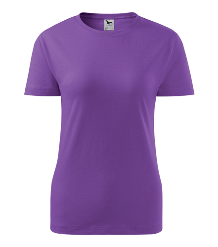 Koszulka Damska A 134 Basic  - 134_64_A - Kolor: Fiolet