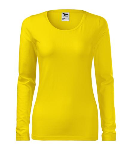 Koszulka Damska A 139 Slim  - 139_04_A - Kolor: Żółty