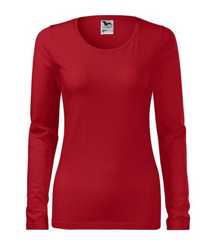 Koszulka Damska A 139 Slim  - 139_07_A - Kolor: Czerwony