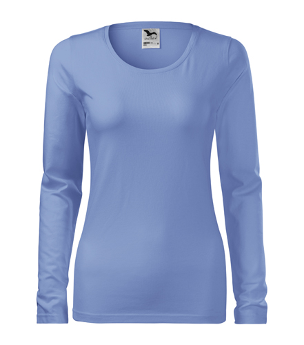 Koszulka Damska A 139 Slim  - 139_15_A - Kolor: Błękitny