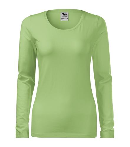 Koszulka Damska A 139 Slim  - 139_39_A - Kolor: Groszkowy