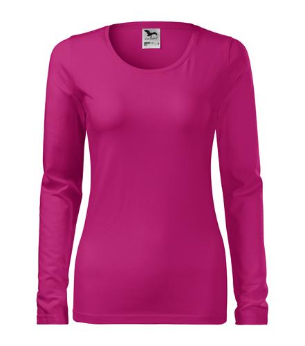 Koszulka Damska A 139 Slim  - 139_63_A - Kolor: Malina
