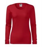 Koszulka Damska A 139 Slim  - 139_07_A Czerwony
