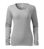 Koszulka Damska A 139 Slim  - 139_12_A Ciemno szary melanż