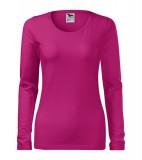 Koszulka Damska A 139 Slim  - 139_63_A Malina