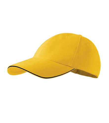 Czapka A 306 6P SANDWICH - 306_04_C - Kolor: Żółty